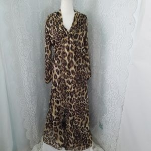 Banana Republic Animal Print Maxi Dress